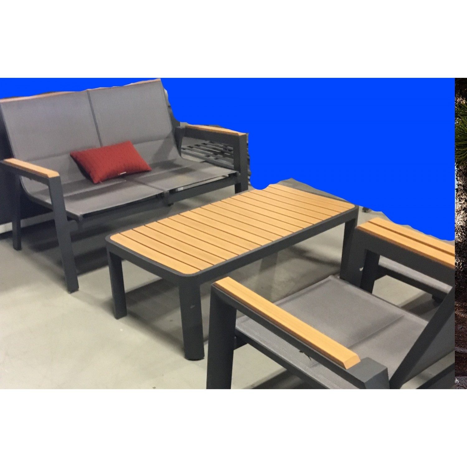 Medeira Outdoor Love Seat Set