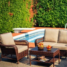 Colossal Outdoor Love Seat Set