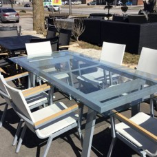 Glass Outdoor Dining Set