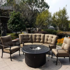 Panacea Outdoor Cast Aluminum Sectional