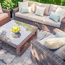 Cedar Outdoor Sofa Set