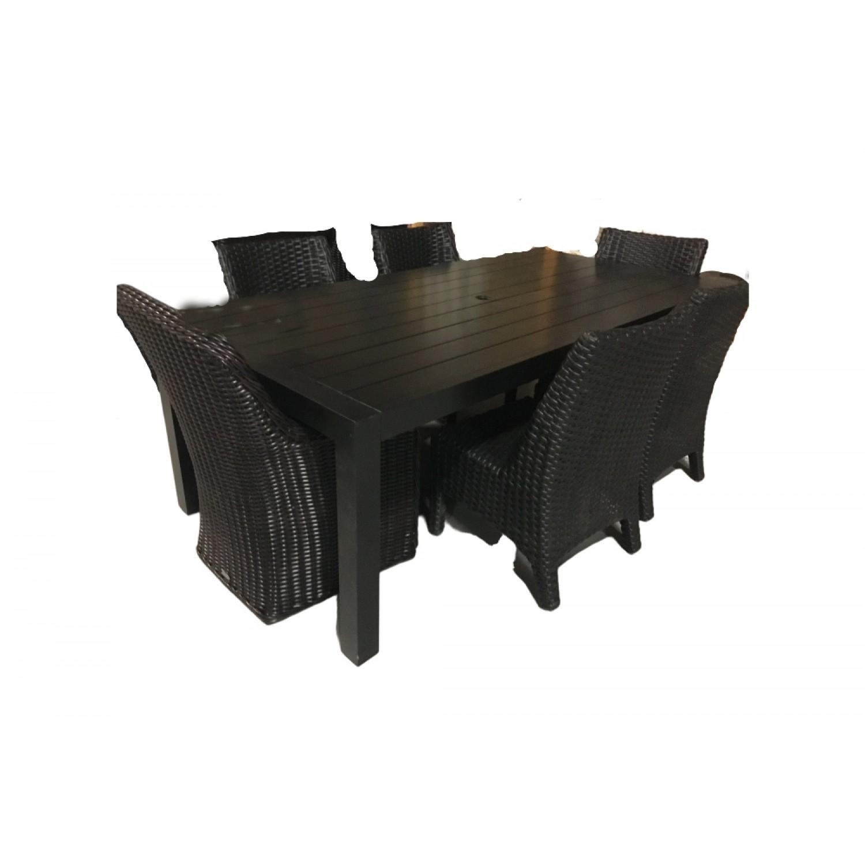 Millcroft Outdoor Dining Set Black