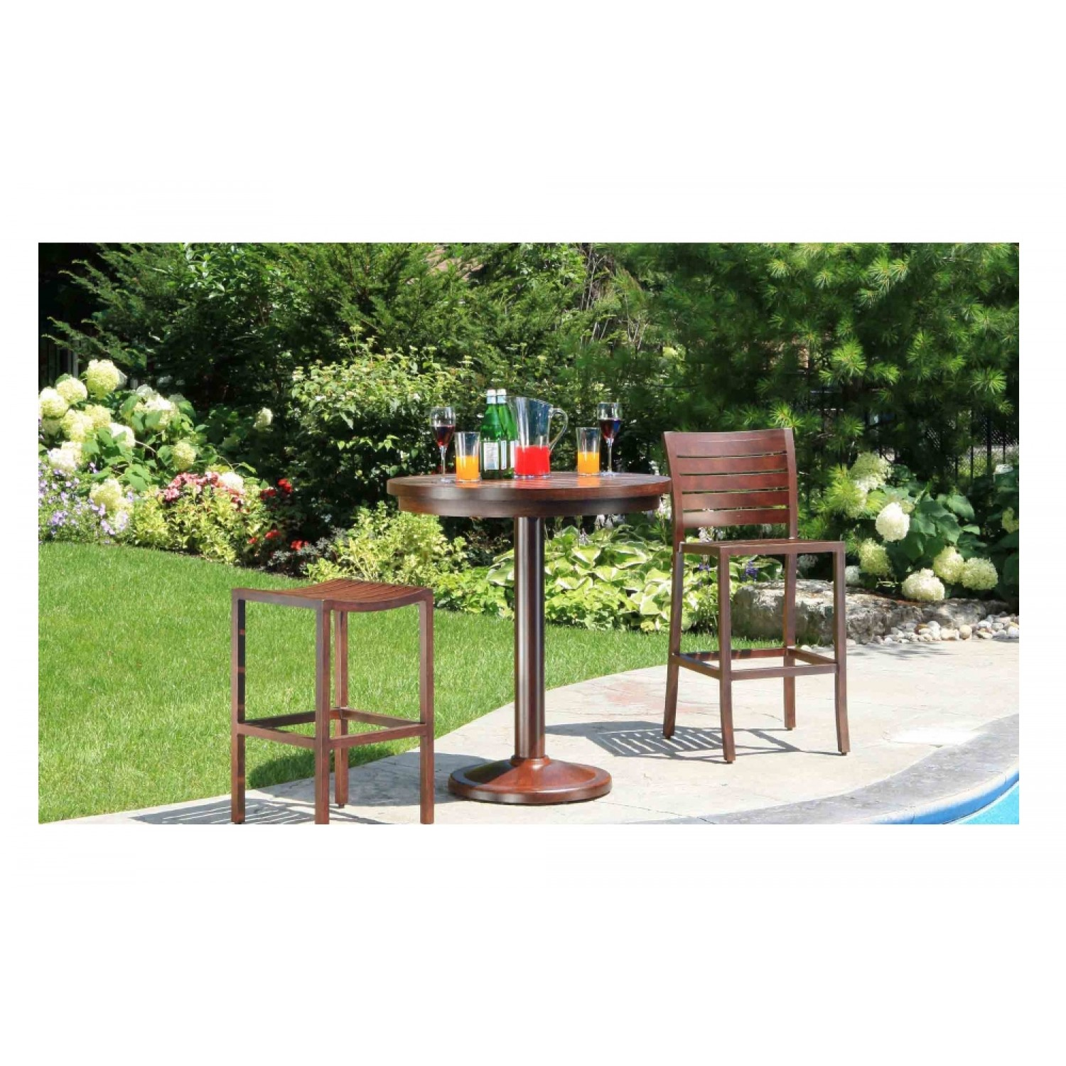 Mission Outdoor Bar Table