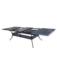 Panacea Outdoor Cast Aluminum Extendable Table & Chairs